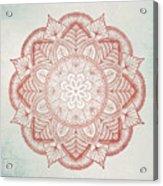 Blue Red Mandala Acrylic Print