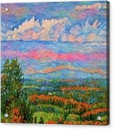 Blue Ridge Cloud Burst Acrylic Print