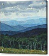 Blue Ridge From Grassy Bald  Study Acrylic Print