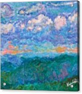 Blue Ridge Magic From Sharp Top Stage One Acrylic Print