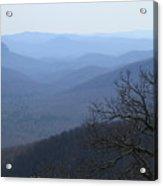 Blue Ridge Mountain Majesty Acrylic Print