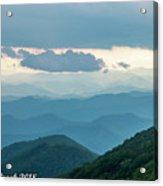 Blue Ridge Mountains View From Craggy Garden Acrylic Print