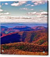 Blue Ridge Of Virginia Acrylic Print