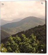 Blue Ridge Overlook Acrylic Print