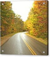 Blue Ridge Parkway In Fall Acrylic Print by Utopia Concepts