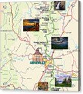 Blue Ridge Parkway In North Carolina Acrylic Print