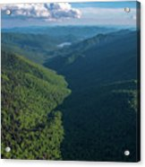 Blue Ridge Parkway Rainbow Gap Acrylic Print