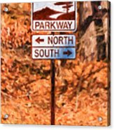 Blue Ridge Parkway Sign Acrylic Print