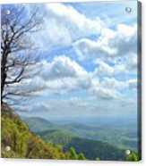 Blue Ridge Parkway Views - Rock Castle Gorge Acrylic Print