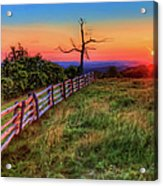 Blue Ridge Sunrise At Doughton II Acrylic Print