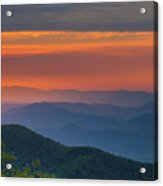 Blue Ridge Sunrise At Wintergreen I Acrylic Print