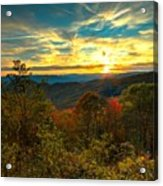 Blue Ridge Sunsets Acrylic Print