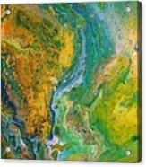 Blue River Thru Acrylic Print