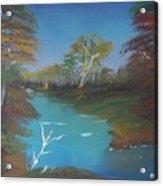 Blue River Two Acrylic Print