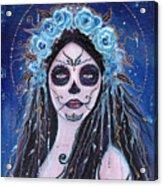 Blue Rosie Acrylic Print