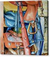 Blue Saddle Acrylic Print