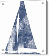 Blue Sail Boat- Art By Linda Woods Acrylic Print