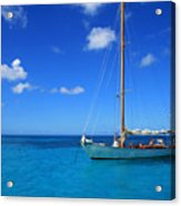 Blue Sailing Acrylic Print