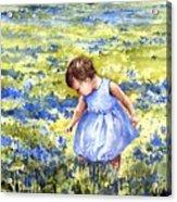 Blue Acrylic Print by Sam Sidders