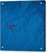 Blue Sand Acrylic Print by Susan Cole Kelly