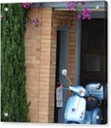 Blue Scooter Acrylic Print
