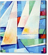 Blue Sea Sails Acrylic Print