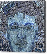 Blue Self Portrait Acrylic Print