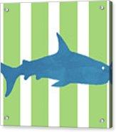 Blue Shark 2- Art By Linda Woods Acrylic Print