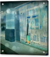 Blue Shopper Acrylic Print
