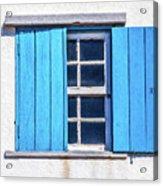 Blue Shutters Of Peniche Acrylic Print
