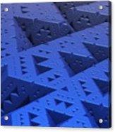 Blue Sierpinski Acrylic Print