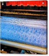 Blue Silk Machine Acrylic Print
