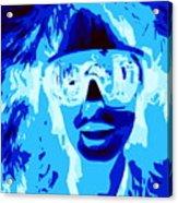 Blue Skier Bob Acrylic Print
