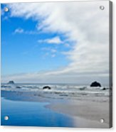 Blue Sky Beaches Acrylic Print