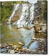 Blue Skies Over Ithaca Falls Acrylic Print