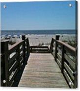 Blue Sky And Beautiful Beach Acrylic Print