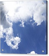 Blue Sky And Cloud Acrylic Print