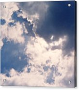 Blue Sky And Clouds Acrylic Print