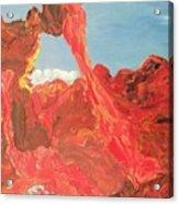 Blue Sky And Orange Rocks Acrylic Print