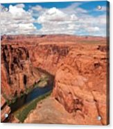 Blue Sky And Red Colored Canyon Acrylic Print