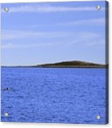 Blue Sky Blue Water And Earth Divider Acrylic Print