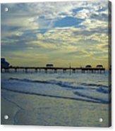 Blue Sky Clearwater Pier 60 Acrylic Print