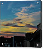 Blue Sky Colorful Sunset Acrylic Print