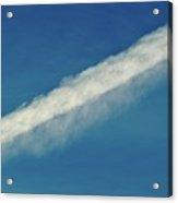 Blue Sky Contrail  Acrylic Print