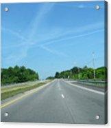 Blue Sky Empty Road Acrylic Print