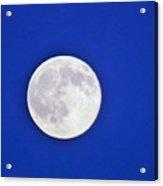 Blue Sky Moon Acrylic Print
