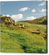 Blue Sky Of Holyrood Walk. Acrylic Print