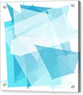 Blue Sky Polygon Pattern Acrylic Print