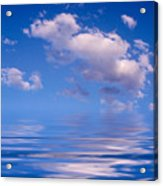 Blue Sky Reflections Acrylic Print