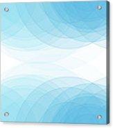 Blue Sky Semi Circle Background Horizontal Acrylic Print